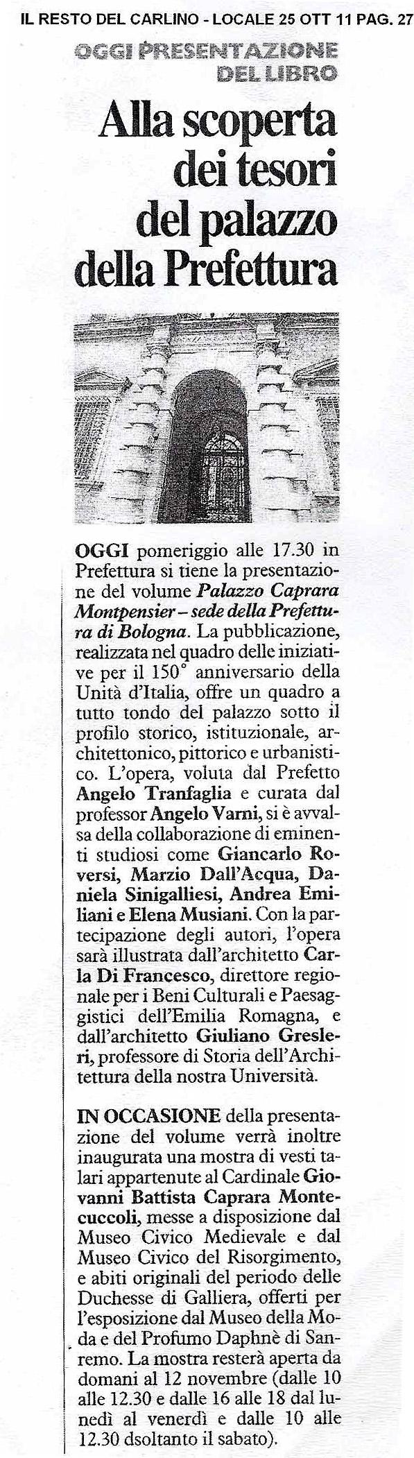mostra palazzo Caprara Bologna 1