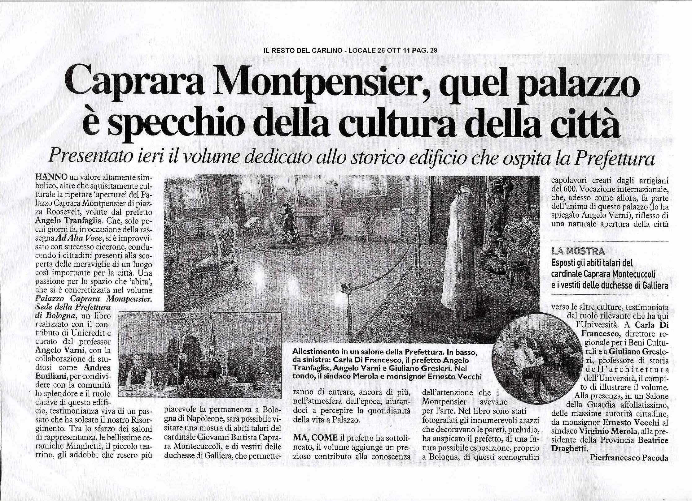 mostra palazzo Caprara Bologna