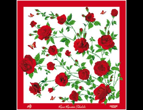 Un foulard della Maison DAPHNÉ per il soprano Renata Tebaldi e la sua Fondazione