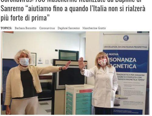 MONACO ITALIA MAGAZINE – 700 mascherine realizzate da DAPHNE Sanremo