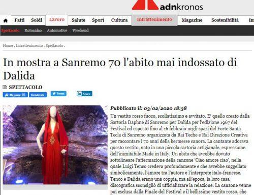 ADKronos – In mostra a Sanremo70 l'abito mai indossato di Dalida