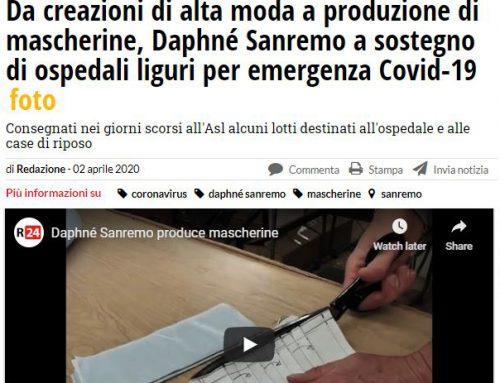 Da creazioni di alta moda a produzione di mascherine, Daphné Sanremo a sostegno di ospedali liguri per emergenza Covid-19